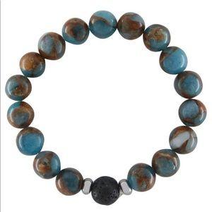 Men's Jasper Lava Diffuser Bracelet